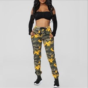Gold Army Jean Joggers